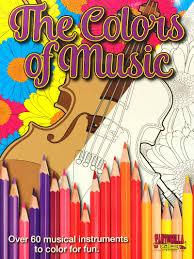 the colors of music musical instrument coloring book