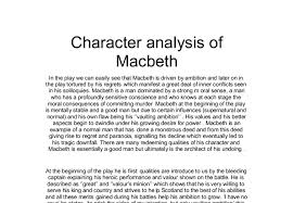 character analysis of macbeth a level english marked by