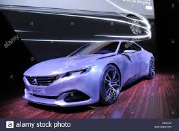 peugeot executive car brussels belgium 15th jan 2015 peugeot concept car exalt is
