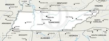 Map Of Tennesse Vector Map Of Tennessee Political One Stop Map