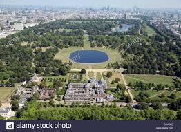 aerial view of kensington palace in london home of prince william