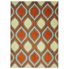 Orange Modern Rug Architecture Orange And Turquoise Area Rug Telano Info