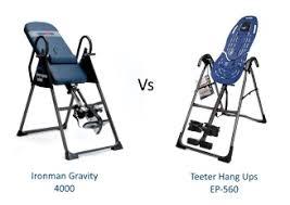 ironman gravity 4000 inversion table inversion table comparison teeter vs ironman best inversion tables