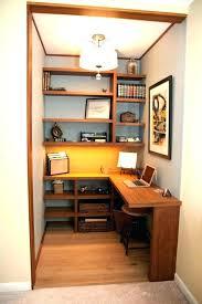 Closet Office Desk Closet Office Ideas Lovable Rattan Basket On White Floating Shelf