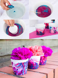 how to make marble effect favour pots diy tutorial diy nail