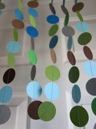 paper garland baby boy shower decorations diy it all things