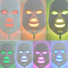 Masker Led led light therapy mask yellow home