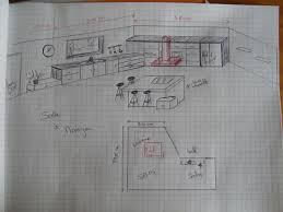 plan cuisine ilot central plan cuisine ouverte beau cuisineilot galerie et plan cuisine ilot