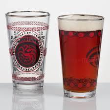 game of thrones targaryen stark pub glasses set of 2 world market