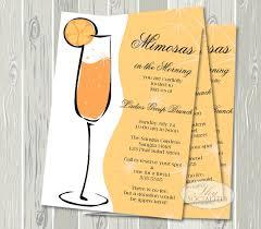 mimosa invitation chagne brunch bridal shower brunch