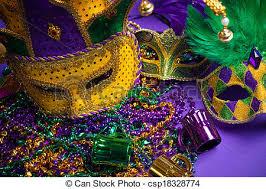 purple mardi gras assorted mardi gras or carnivale mask on a purple picture
