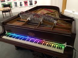 piano with light up keys magnetic resonator piano