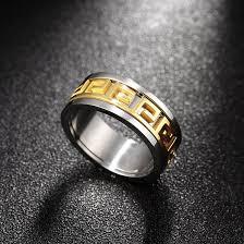 rings for men wholesale trendy 24k gold plated geometric ring for men sstr012