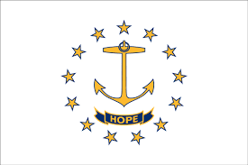 State Flag Meanings Rhode Island State Flag Flagnations