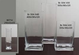 vasi in vetro economici vasi rettangolari in vetro alti da 21 a 50 cm vasi rettangolari
