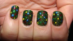 Christmas Light Nails by Christmas Tree In Water Christmas Lights Decoration