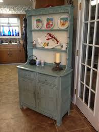 furniture painted grey buffet hutch with 2 drawers for home