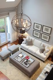 high ceilings and stylish design this living room uses a