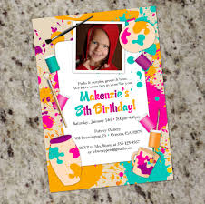 paint your own pottery birthday party invitation printable