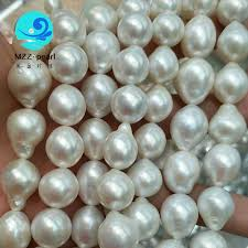 natural freshwater pearl necklace images Natural white lustrous large freshwater edison pearl strands 14x15mm jpg