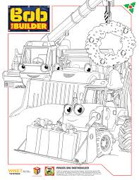 bob builder holiday coloring sheets bobthebuilder pbskids