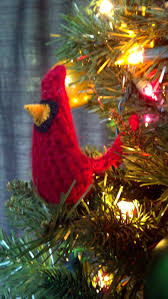 mostly nerdy crochet cardinal ornaments