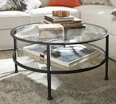 Rounded Edge Coffee Table - glass wood and metal coffee tables pottery barn