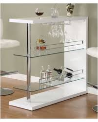 deals on 1perfectchoice modern pub home bar table unit with glass