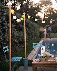 post to hang string lights e735c0451f97bb02636228185b663217 outdoor movie party outdoor