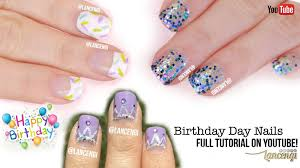 easy nail art designs for beginners 32 birthday nails youtube