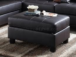 sectional sofa and ottoman set in espresso faux leather