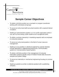 Job Objective Examples For Resume by Resume Examples For Any Job Resume Objective For Career Change