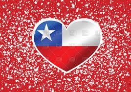 Chilian Flag Heart Shaped Chile Flag Royalty Free Vector Clip Art Image 68250