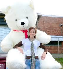big teddy american made 8 foot teddy 96 inch soft white teddybear