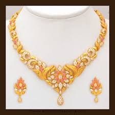 gold stone necklace images Gold stone necklace set by vbj jewelry pinterest jewelry jpg