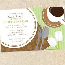 brunch invitations sweet wishes mint chocolate bridal brunch invitations