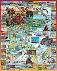 New England Maps by The Best Of New England Jigsaw Puzzle Puzzlewarehouse Com