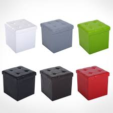 square ottoman ebay folding cube ottoman pouffe storage box square pu leather footstool lounge seat