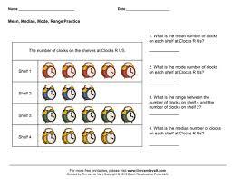 mean median mode range worksheets pdf mean median mode range