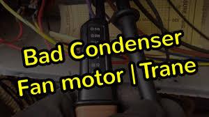trane condenser fan motor replacement condenser fan motor replacement trane twp youtube