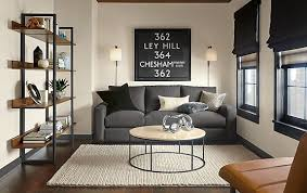 Steel Living Room Furniture Metro Sofa In Charcoal With Steel Accents Modern Living