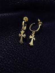 ch earrings chrome hearts ch cross earring gold plating klhearts