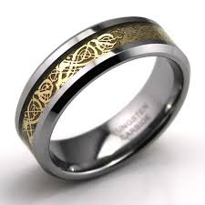 celtic rings tungsten carbide celtic ring jewelry wedding band gold new