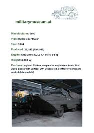 amphibious dodge truck overview u2014 militarymuseum at