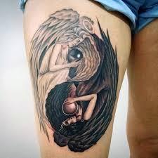 Yang Yang Tattoos 60 Yin Tang Tattoos For Contrasting Designs Symbols