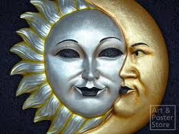 moon mask second marketplace sun and moon venetian mask wall decoration