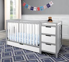 nursery baby crib with changing table attached baby r us cribs