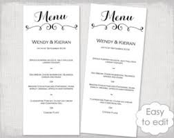wedding menu template pink u0026 gray diy printable wedding menu