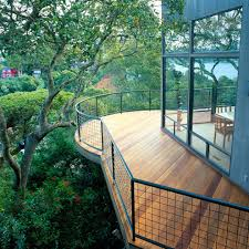 horizontal deck railing balcony contemporary with window wall