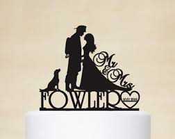 fireman wedding cake toppers wedding cake toppercustom cake topper by acrylicdesignforyou